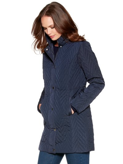 Chevron quilted coat