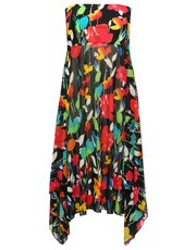 Floral print two in one beach dress