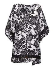 Scarlett and Jo plus lace trim scarf tunic