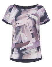 VIZ-A-VIZ hi lo abstract print top