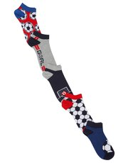 Football trainer socks five pack