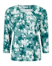 Eastex reflective bloom print top