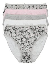 Floral print high leg briefs multipack