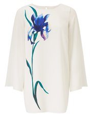 Jacques Vert printed split sleeve top