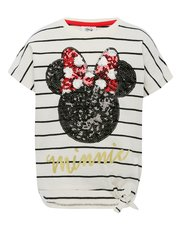 Disney sequin Minnie Mouse stripe t-shirt