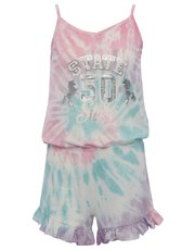 Teens' tie dye playsuit pyjamas