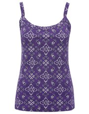 Tile print thick strap cami top