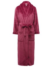 Ribbed fleece robe