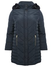 Plus longline padded coat