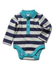 Stripe pattern long sleeve bodysuit