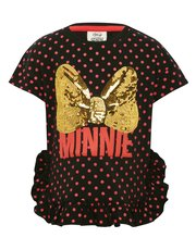 Disney sequin Minnie Mouse spot print t-shirt