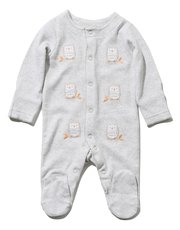 Owl sleepsuit with feet