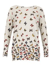 Izabel knitted butterfly print top