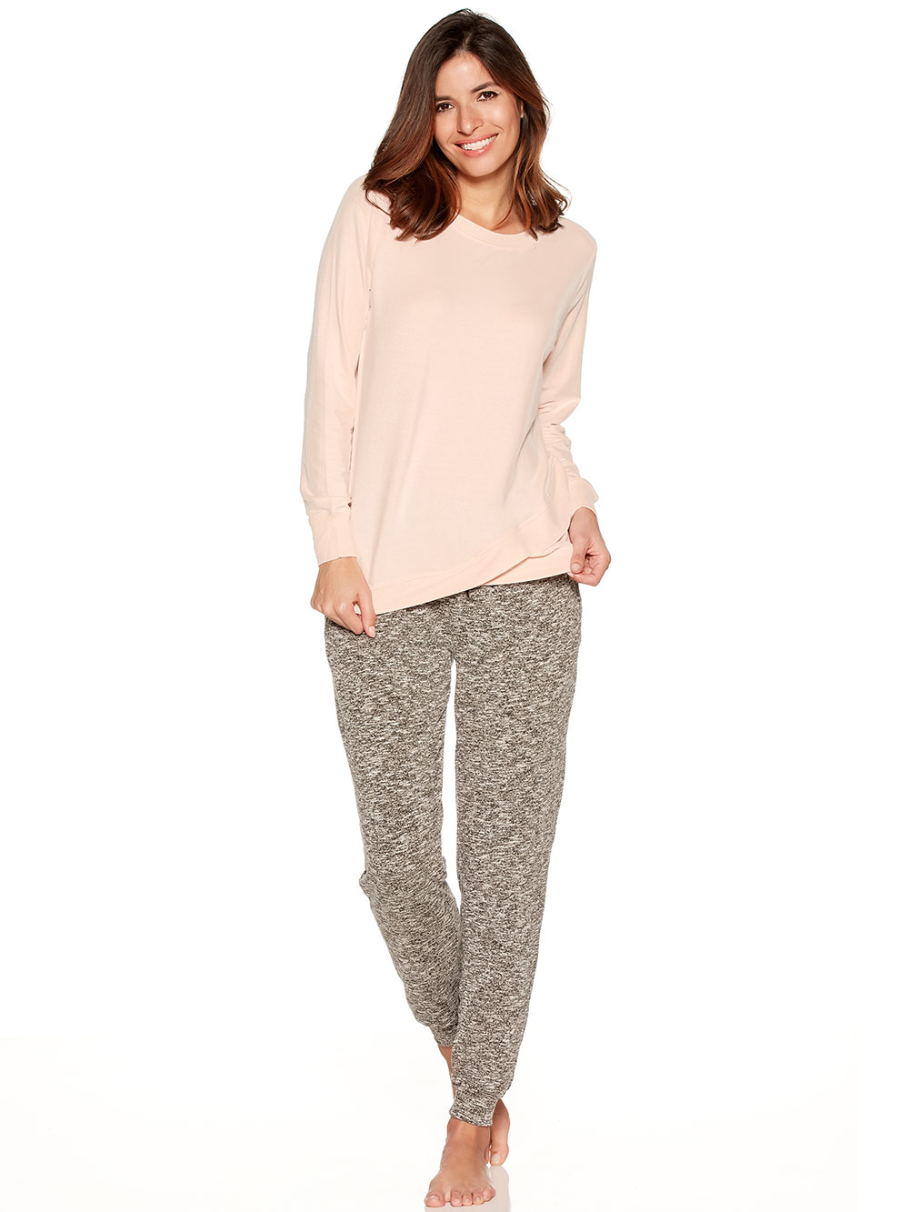 Loungewear cross over sweater and joggers set