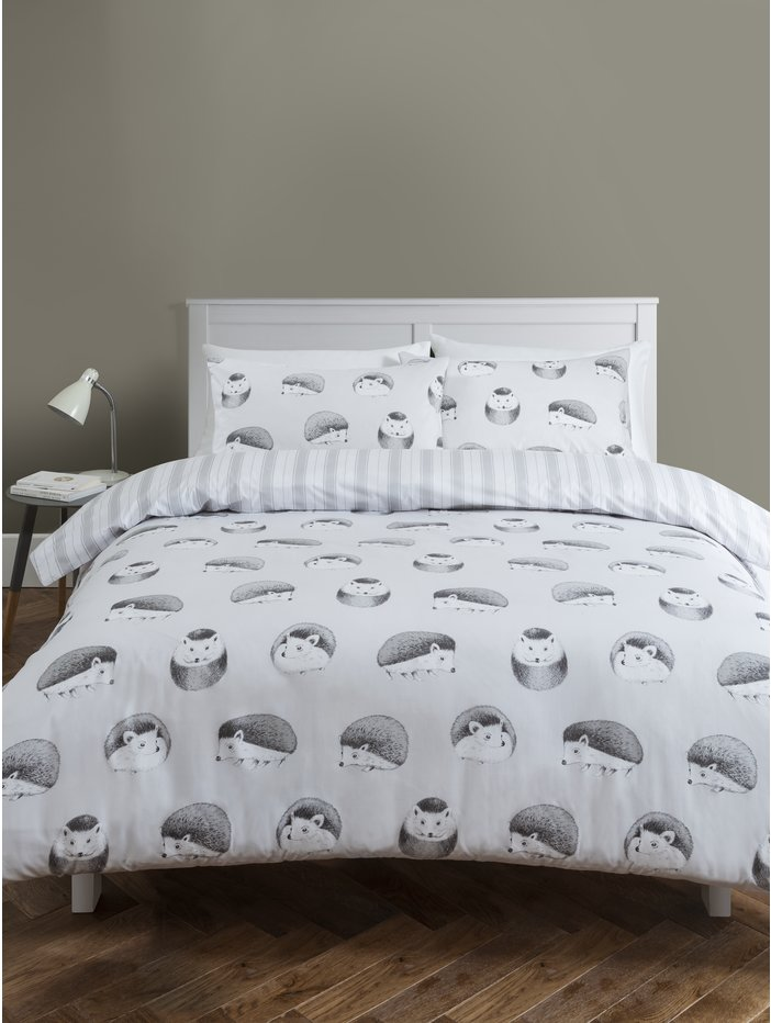 Hedgehog Print Duvet Set
