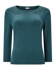 Eastex embellished neck jumper