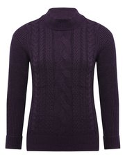 Petite cable knit turtle neck jumper
