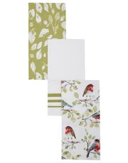 British birds tea towel set of three