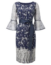 Jacques Vert Elena vine leaf shift dress