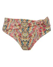 Paisley print roll over bikini bottoms