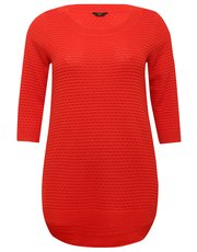 Plus textured tunic jumper