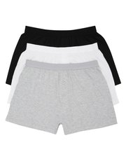 Pure cotton plain boxers three pack