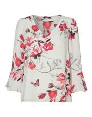 Roman Originals botanical fluted sleeves top