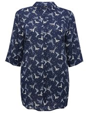 Plus bird print longline shirt