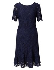 Precis Petite lace flippy hem dress