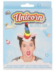 Teens' NPW inflatable unicorn horn headband