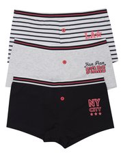NYC stripe and plain boxer briefs three pack