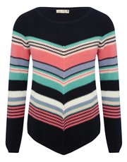 Chevron stripe jumper