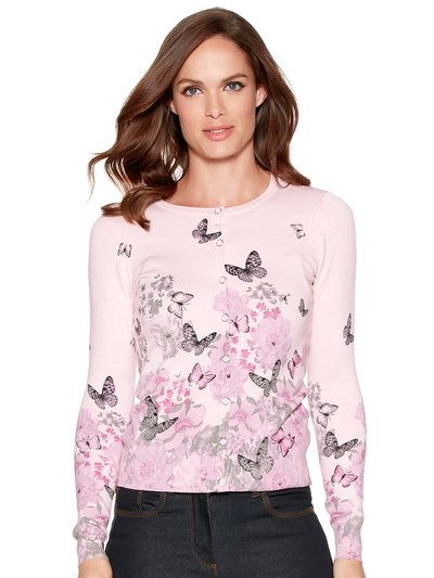 Butterfly floral cardigan