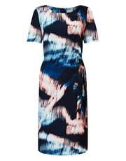 Eastex sky reflection print dress