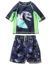 Dinosaur rash guard swim set