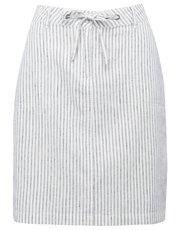 Petite ticking stripe linen skirt