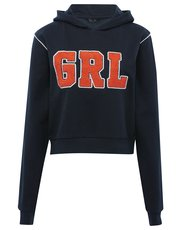 Teens' cropped hoody