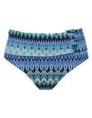 Aztec print roll over bikini bottoms