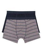Navy and stripe bamboo trunks two pack