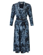 Eastex tapestry print jersey dress
