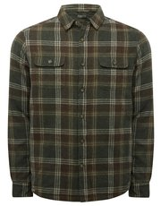 Check lined long sleeve shirt