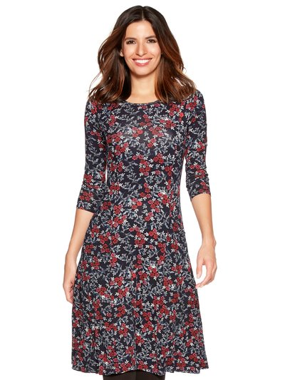 Ditsy rose print pocket dress