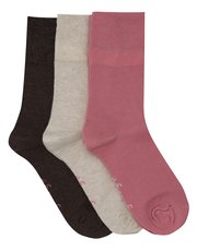 Gentle Grip Coloured Socks Three Pack