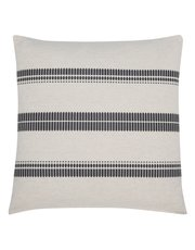 Embroidered bands stripe cushion