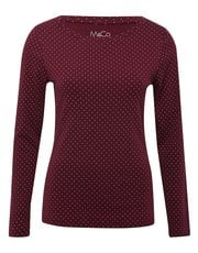 Long sleeve spotty top
