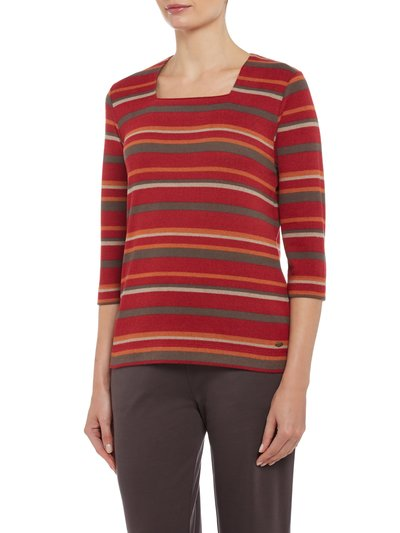 TIGI square neck stripe top