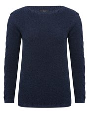 Cross sleeve knit jumper