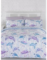 Sea turtle print duvet set