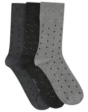 Gentle Grip square pattern socks