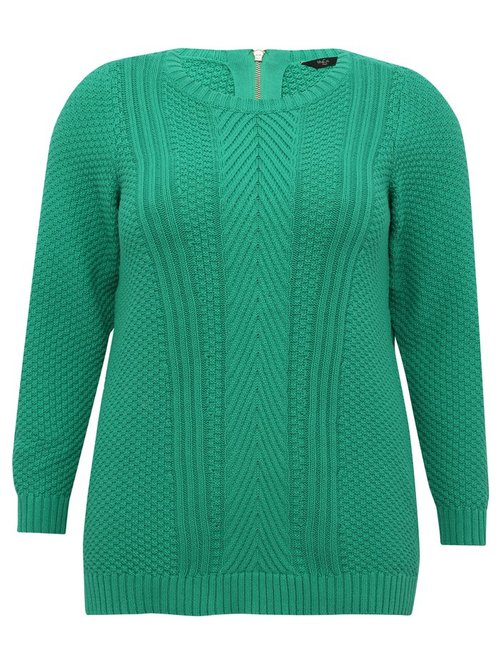 838484eb8 Alternate Views. ‹ › Plus cable knit jumper ...